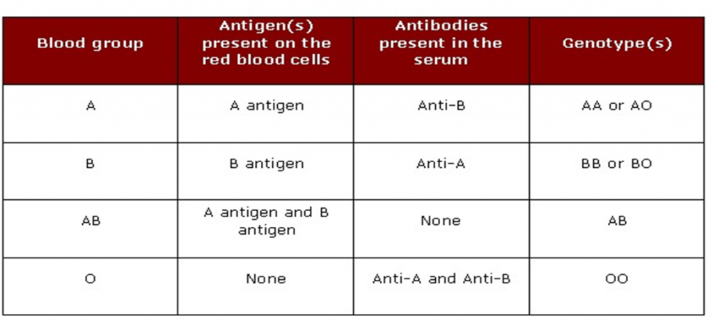 Blood group and blood grouping - Bioscience Notes